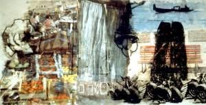 Robert Rauschenberg painting